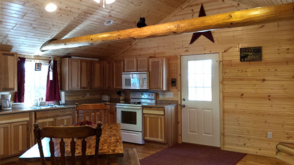 Cabin 1 (Cedar) kitchen entry.