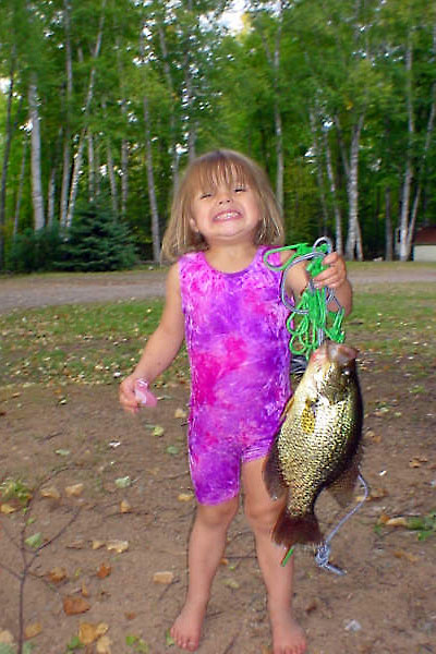 Even the kids love fishing at Peninsula Pines Resort & Campground