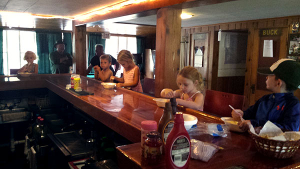 Kids enjoying ice cream at the Peninsula Pines Resort Lodge.